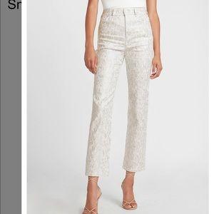 ⚠️NWT Express Metalic Snakeskin Straight Pants